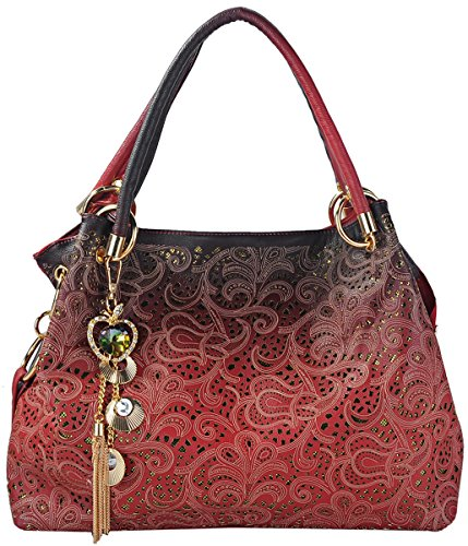 Tinksky Tote Handbag Womens Shoulder Bag Casual Signature Printing Pu Leather Tote (Amazon Purses compare prices)