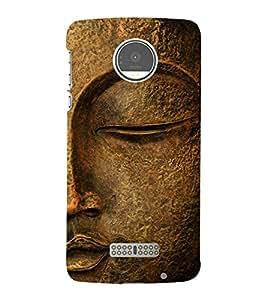 Gautam Buddha 3D Hard Polycarbonate Designer Back Case Cover for Motorola Moto Z :: Motorola Moto Z Droid