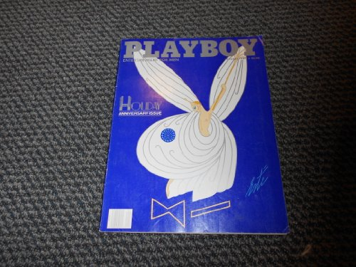 Playboy Magazine January 1987,Vol 34 #1 Drawing by Artist Erte on Cvr, has Alberto Vargas Painting  on flipside of  Centerfold, Holiday Anniversary Issue