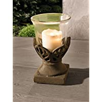 Stone Flower Accent Vase - Table Top Candle Lantern in Flower Design Product SKU: CL226785