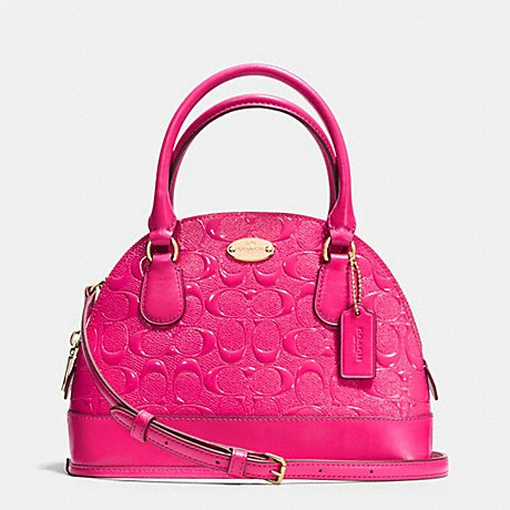 You Save Coach Debossed Ruby Pink Patent