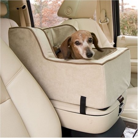 Snoozer Pet Dog Cat Puppy Outdoor Luxury High Back Console Car Suv Secure Safety Seat Extra Large Pink front-915625