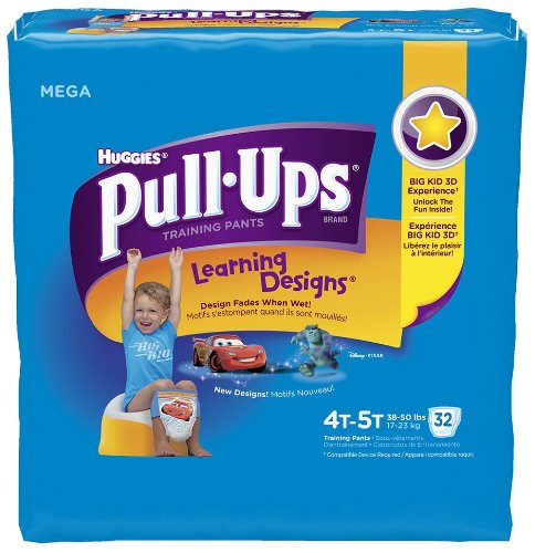 Huggies Pull-Ups Training Pants for Boys with Learning Designs, Mega Pack, Size 4T-5T, 32 ea, 1 pack - 1