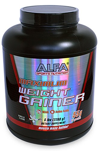 Maximun Weight Gainer Vanilla Flavor 5 Lbs. Sports Nutrition High Protein Weight Gainer