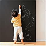 Coavas® 17.71x78.74 Inches Chalkboard Wall Sticker Blackboard Vinyl Sheet Message Center Wall Sticker