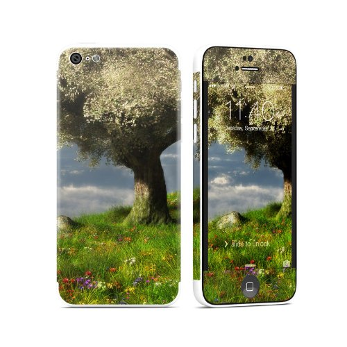 World'S Edge Spring Design Protective Decal Skin Sticker (Matte Satin Coating) For Apple Iphone 5C Cell Phone front-1024003