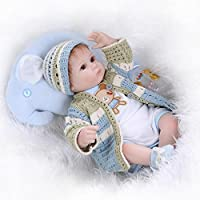 Sany Doll Reborn Baby Doll Soft Silicone Vinyl 18 Inch 45 Cm Lovely Lifelike Cute Baby Boy Girl Toy Lovely Wool...