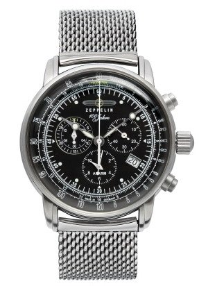 Mens Zeppelin 100 Jahre Alarm Chronograph Watch 7680M-2