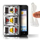 STUFF4 Gel TPU Phone Case Cover for Huawei Ascend Y330 Bells Design Slot Machine Collection