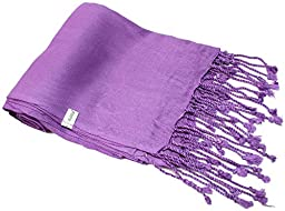 Kuldip Unisex Factory Seconds Pashmina Scarf Shawl Wrap Throw Calm Purple