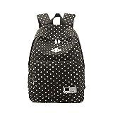 女性のファッションカジュアルショルダーバックパックスクールバッグ多機能リュックサック (ブラック)