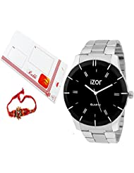 Rakhi Gift For Bhai,brother,father,boys,men,Black Dial Analogue Casual Wear Watch With FreeRakhi (Rakhi Designs...