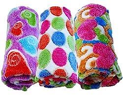 BRANDONN heart printed softy corel baby blanket cum wrapper
