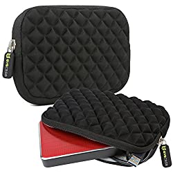 Evecase Universal Anti-Shock Diamond Neoprene Travel Carrying Case for Small Electronics and Accessories, such as 2.5