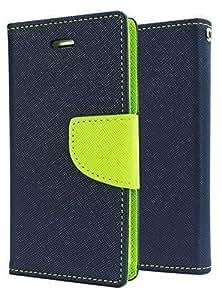 Solaris Infotech Mercury Goospery Fancy Diary Wallet Case Cover for Asus Zenfone Selfie (Blue) + OTG