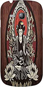 Snoogg Meditating Monkey 2656 Case Cover For Samsung Galaxy S3 Mini