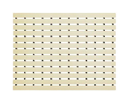 Naxan PVC shower mat (17 Inch X 24 Inch), almond beige