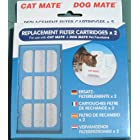 Cat/Dog Mate Pet Fountain Replacement Filter Cartridges pack of 2