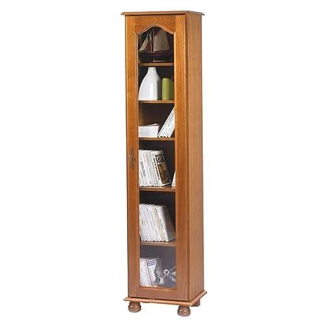 Actual diffusione 6101Var Bretagna Biblioteca con grande porta legno 33x 44,2x 182,2cm
