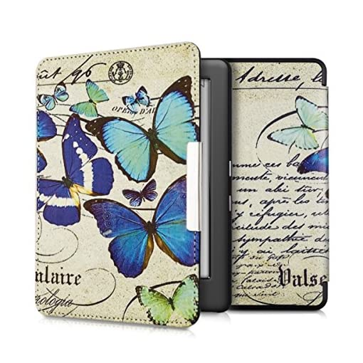 kwmobile-Elegant-synthetic-leather-case-for-the-Kobo-Glo-HD-N437-Touch-20-Design-butterflies-vintage-in-blue-mint-beige
