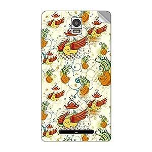 Garmor Designer Mobile Skin Sticker For Spice MI-506 (STELLA METTLE ICON) - Mobile Sticker