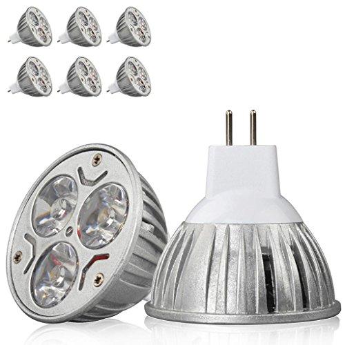 6X High Power 9W Mr16 Ultra Bright Led Smd 3X3W Spot Light Lamp Bulb Warm White
