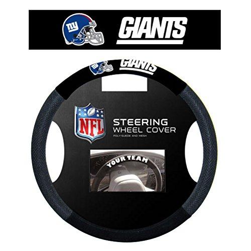 NFL New York Giants Steering Wheel Cover, Black (Steering Wheel Cover Giants compare prices)