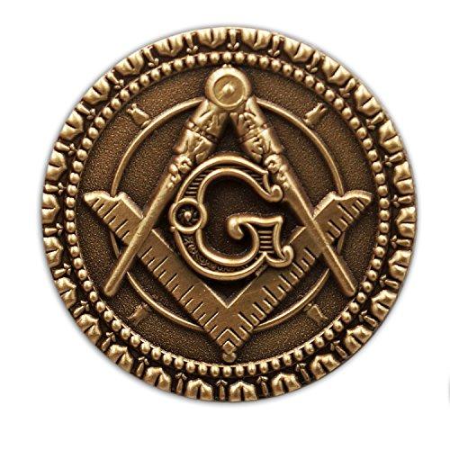 Masonic Exchange Antique Brass Lapel Pin