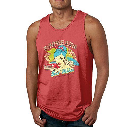 VenC Men's Cotton Vest Underwaist Best Wishes To Ramblers Red M Tank Top. (Wish Ticket Roll compare prices)