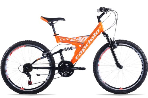 mountainbike 24 zoll ctx240 vollgefedert 18 gang shimano. Black Bedroom Furniture Sets. Home Design Ideas