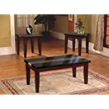 3pc Artificial Marble Top Coffee Table & End Table Set