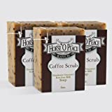 Handmade Herbal 100% Raw Goat Milk Coffee Scrub Soap (3 Pack - 4.5oz./Bar)