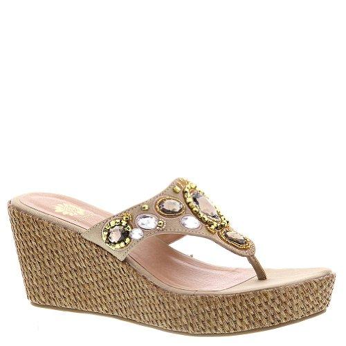 Jeweled Wedge Sandals