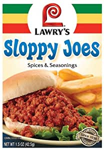 Lawry's Sloppy Joes Spices & Seasonings, 1.5-Ounce Packets (Pack of 24)