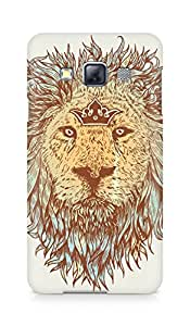 Amez designer printed 3d premium high quality back case cover for Samsung Galaxy A3 (The blue blooded and the brave lion)