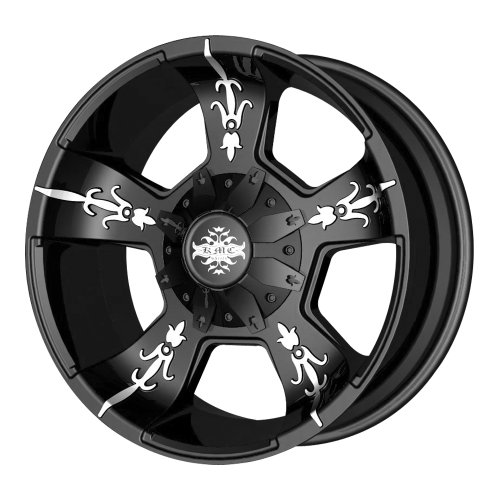 "Kmx Wheels Vandal Km6687 Matte Black Machined Wheel (20X9""/6X135Mm)"