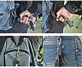 BangTi Titanium High Loading-bearing Mini Carabiner Quick Release Keychain Super Durable (45mm+Ti Hook Brass Trist Lock)