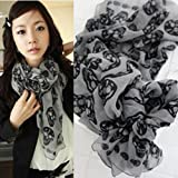 BestDealUK Fashion Women Big Skull Head Skeleton Soft Long Shawl Scarf Wrap Stole