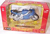 Burago triumph TT600 blue bike 1.18 scale model