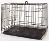 Large 30 Inch Foldable Breeder Puppy Kitten Rabbit Training Cage With 1/2 Inch Bottom Wire Grid Mesh Floor