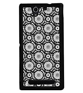 Fuson Premium Wheels Design Metal Printed with Hard Plastic Back Case Cover for Sony Xperia C3 Dual