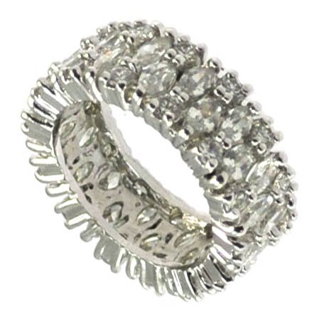 Eternity Clear CZ Band