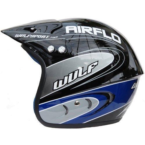 Wulf Airflo Trials Helmet L Black