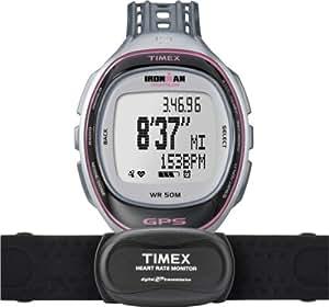 Timex - T5K630 - Ironman Run Trainer - Montre GPS Femme - Bracelet Résine - Alarme/Boussole/Chronomètre - Moniteur de fréquence cardiaque