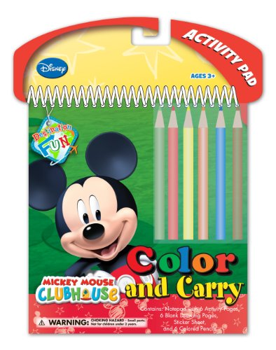 National Design Disney Mickey Color and Carry Sticker Activity Set