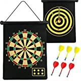 TG DOUBLE SIDE MAGNET DART BOARD GAME SIZE 15 INCHES WITH 6 FREE DARTS