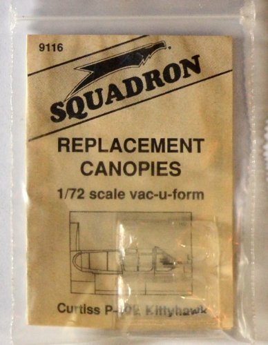 Squadron Products P-40E Kittyhawk Vacuform Canopy