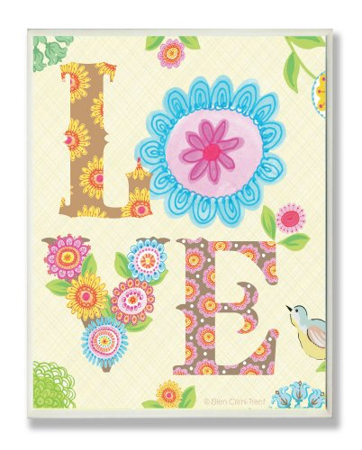 The Kids Room by Stupell Floral LOVE Rectangle Wall Plaque