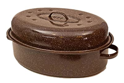 Granite Ware F0592-2 Roaster with Nonstick Rack, 24-Pound, Brown