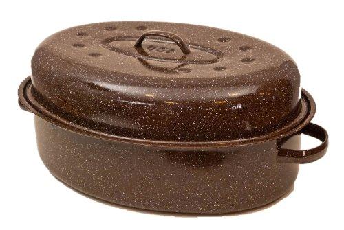 Granite Ware F0591-2 Roaster with Nonstick Rack, 20-Pound, Brown